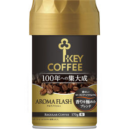 キーコーヒー キーコーヒー アロマフラッシュ 香りを極めたブレンド 170g 水・飲料 レギュラーコーヒー全部