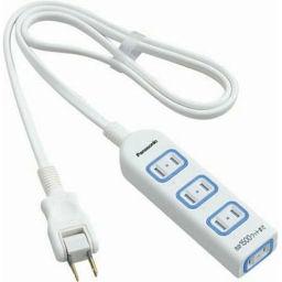 パナソニック パナソニック ザ・タップX(安全設計扉・パッキン付) 4個口 1m ホワイト WHA2514WKP 家電 電源タップ・電源ケーブル