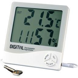 エンペックス気象計 エンペックス デカデジV(デジタル湿度計/内外温度計/時計/カレンダー) TD-8130 ホワイト ベビー&キッズ 温湿度計