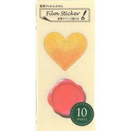 ナカバヤシ 貼ってはがせる透明フィルムふせん Film sticker デコレーションA 2柄×各10シート NC-FSN-023 ホーム&キッチン 付箋