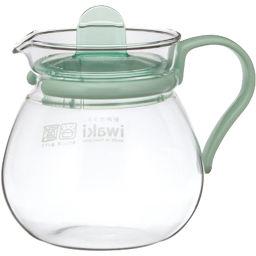 AGCテクノグラス iwaki レンジのポット・プチティー KT842-G グリーン 400ml ホーム&キッチン 耐熱グラス