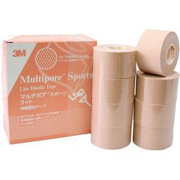 スリーエムジャパン 3M マルチポア スポーツ ライト 伸縮固定テープ 37.5mm×5m 8ロール 衛生医療 テーピングテープ
