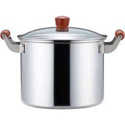 ヨシカワ ヨシカワ ナチュラルクッキング 寸胴鍋(ガラス蓋付) 24cm SH2083 ホーム&キッチン 雪平鍋(行平鍋)