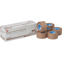 スリーエムジャパン 3M マイクロポア スキントーン サージカルテープ スモール パック 25mm×9.1m 6巻入 1533SP-1 衛生医療 サージカルテープ全部