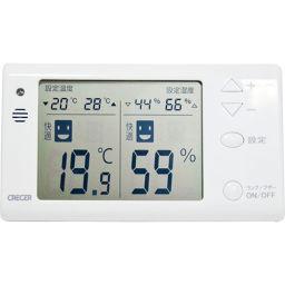 クレセル クレセル デジタル温度計・湿度計 壁掛け・卓上両用 CR-1210W ホワイト ベビー&キッズ 温湿度計