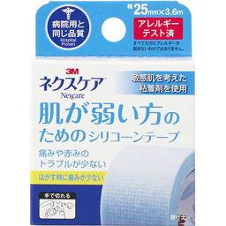 スリーエムジャパン ネクスケア 肌の弱い方用 シリコーンテープ 25mm×3.6m 衛生医療 サージカルテープ全部