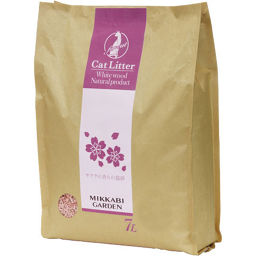 三ヶ日ガーデン サクラの香りの猫砂 7L ペット用品 猫砂・ネコ砂(木・天然素材)