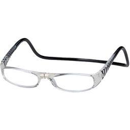 オーケー光学 老眼鏡クリックユーロ(clic euro) ブラック&クリアー +1.5 衛生医療 老眼鏡