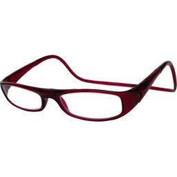 オーケー光学 老眼鏡クリックユーロ(clic euro) ボルドー +3.0 衛生医療 老眼鏡