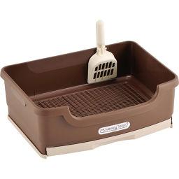 ボンビアルコン ウィークリートイレセット ブラウン ペット用品 システムトイレ容器(猫用)