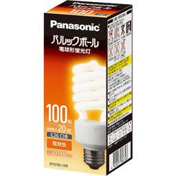パナソニック パナソニック 電球形蛍光灯 パルックボール D100形 電球色 E26口金 EFD25EL20E 家電 電球型蛍光灯(60W相当)