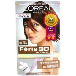 日本ロレアル フェリア3Dカラー シャイン&モイストテクロノジー#65 マロングラッセ 化粧品 ヘアカラー(おしゃれ染め) 女性用