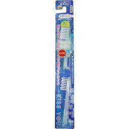 フクバデンタル キスユー イオン歯ブラシ 山切りレギュラー 替えブラシ かため 2本入 日用品 マイナスイオン歯ブラシ