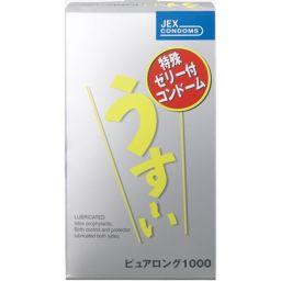 ジェクス うすーい ピュアロング 1000 12個入り(コンドーム) 衛生医療 コンドーム ゼリーたっぷり