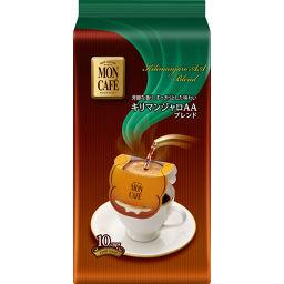 片岡物産 モンカフェ キリマンジャロAAブレンド 8g×10袋 水・飲料 ドリップコーヒー