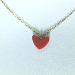AHKAH【アーカー】 ネックレス /樹脂加工石(珊瑚使用) レディース