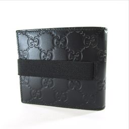 GUCCI【グッチ】 406470 二つ折り財布(小銭入れあり) シマレザー レディース