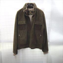 【CAVALIERI 】 ミリタリージャケット ラムスキン/カシミヤ/ビーバー メンズ