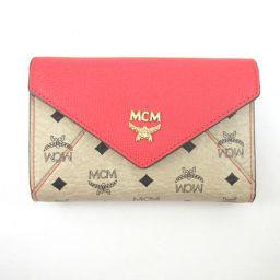 MCM【エム・シー・エム】 三つ折り財布(小銭入れあり) レザー レディース