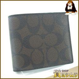 COACH【コーチ】 F75083 二つ折り財布(小銭入れなし) PVC/レザー メンズ