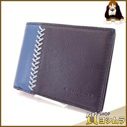 COACH【コーチ】 F75178 ビルフォード ID ベースボールステッチ 二つ折り財布(小銭入れなし) レザー メンズ