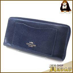 COACH【コーチ】 F54007 ラウンドファスナー 長財布(小銭入れあり) /シャイニーレザー レディース